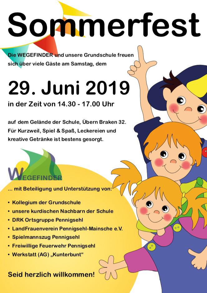 Plakat zum Sommerfest